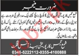 Branch Manager Jobs 2020 in Shama Gas Corporation Gilgit