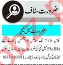 Male & Female Teaching Staff Jobs Open in Peshawar
