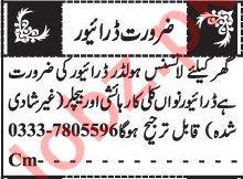 Driver & LTV Driver Jobs 2020 in Quetta