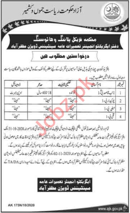 Physical Planning & Housing Department Jobs for Naib Qasid