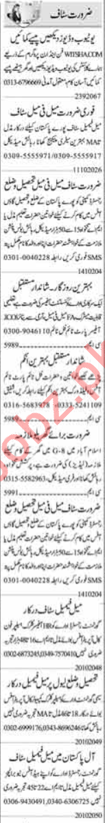 Recovery Officer & Cashier Jobs 2020 in Islamabad