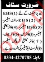 EHS Manager & Fire Safety Officer Jobs 2020