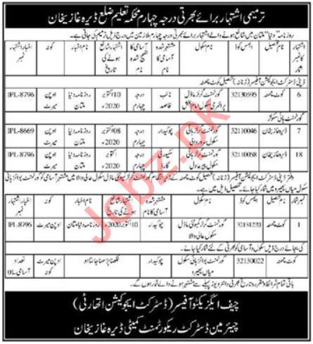 District Recruitment Committee Dera Ghazi Khan Jobs 2020