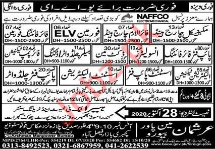 Fire Alarm Charge Hand & Docket Man Jobs 2020 in UAE