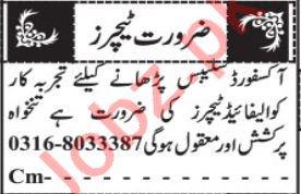 Teacher & Coordinator Jobs 2020 in Quetta