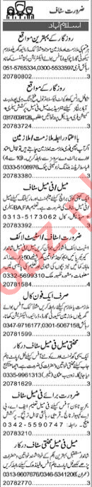 Web Developer & Account Manager Jobs 2020 in Islamabad