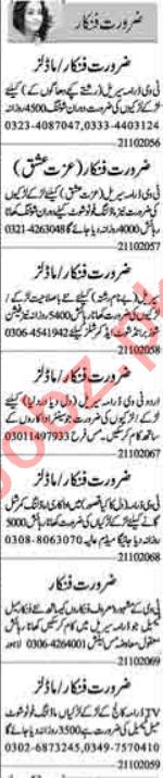 Model & Actor Jobs Lahore 2020