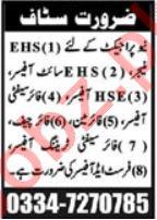 Fire Safety Officer & HSE Officer Jobs 2020 in Multan