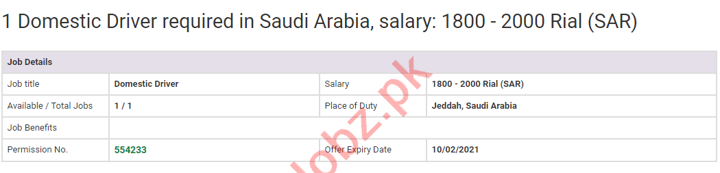 Domestic Driver & LTV Driver Jobs 2020 in Saudi Arabia