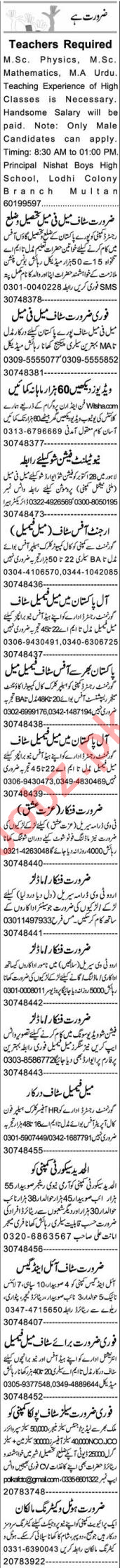 Web Developer & Assistant Manager Jobs 2020 in Multan