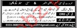 Female Customer Relation Officer & Sales Executive Jobs 2020