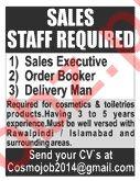 Sales Executive & Order Booker Jobs 2020 in Islamabad