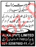 Alka Chemicals Karachi Jobs 2020 for Security Supervisor