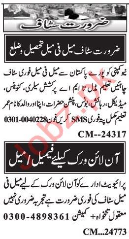 Admin Officer & Computer Operator Jobs 2020 in Islamabad