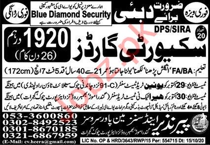 Security Guard & Security Officer Jobs 2020 in Dubai