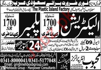 Electrician & Plumber Jobs 2020 in Bahrain