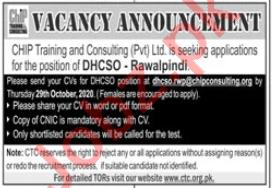 CHIP Training & Consulting CTC Rawalpindi Jobs 2020