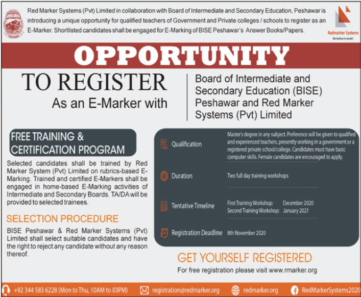 Red Marker Systems Jobs 2020 in Peshawar KPK