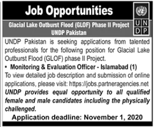 Monitoring & Evaluation Officer Jobs 2020 in Islamabad