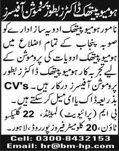 BM Private Limited Jobs 2020 in Lahore