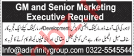 General Manager & Marketing Executive Jobs 2020