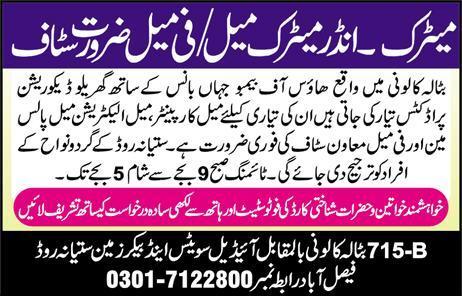Miscellaneous Staff Jobs 2020 in Faisalabad