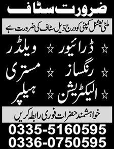 Miscellaneous Staff Jobs 2020 in Gujranwala