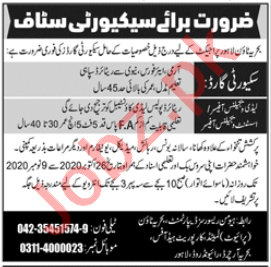 Bahria Town Lahore Jobs 2020 for Lady Vigilance Officer