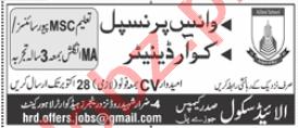 Vice Principal & Coordinator Jobs in Allied School Lahore