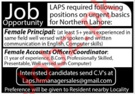 London Academic Plan School LAPS Lahore Jobs 2020