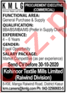 General Purchase Officer Jobs in Kohinoor Textile Mills