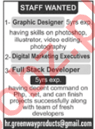 Greenway Products Lahore Jobs 2020 for Graphic Designer