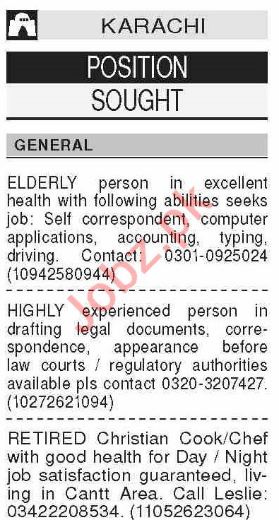 Dawn Sunday Classified Ads 25 Oct 2020 for General Staff