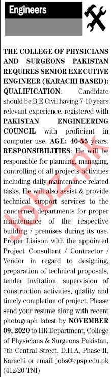 The News Sunday Classified Ads 25 Oct 2020 for Engineering
