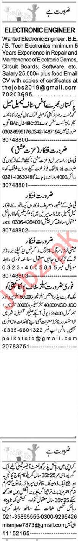 Express Sunday Faisalabad Classified Ads 25 Oct 2020