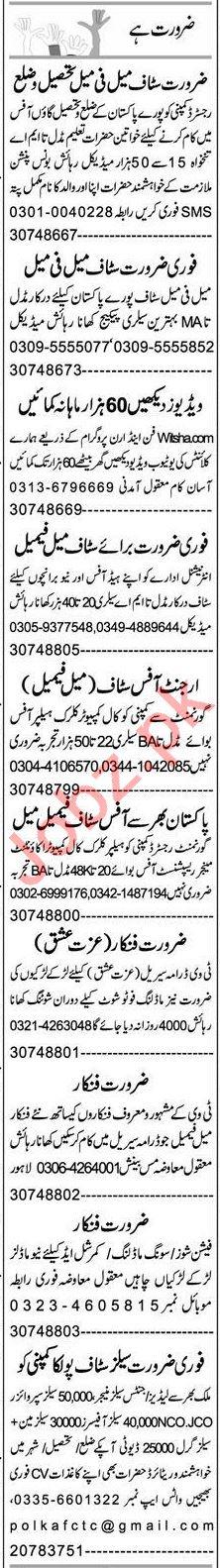 Express Sunday Multan Classified Ads 25 Oct 2020