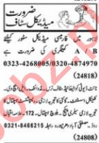 Nawaiwaqt Sunday Classified Ads 25 Oct 2020 for Medical
