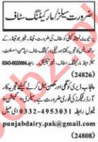 Nawaiwaqt Sunday Classified Ads 25 Oct 2020 for Sales Staff