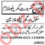 Nawaiwaqt Sunday Classified Ads 25 Oct 2020 House Staff