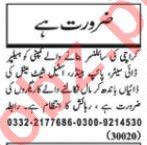 Nawaiwaqt Sunday Classified Ads 25 Oct 2020 Manufacturing