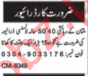 Nawaiwaqt Sunday Classified Ads 25 Oct 2020 for Driving