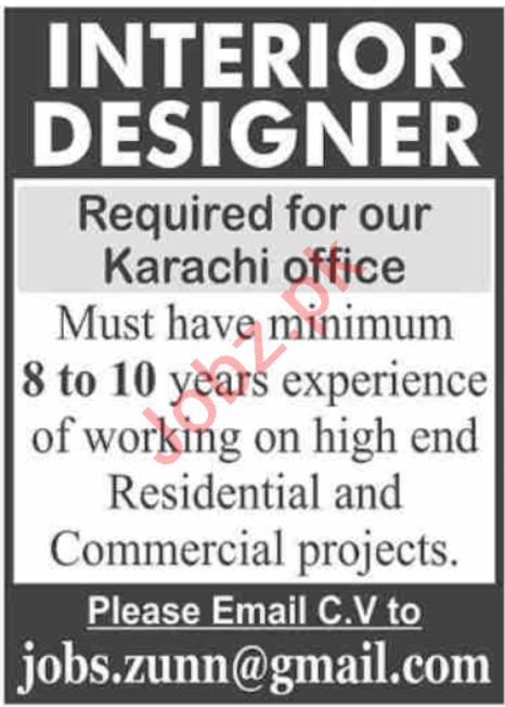 Interior Designer Jobs 2020 in Karachi