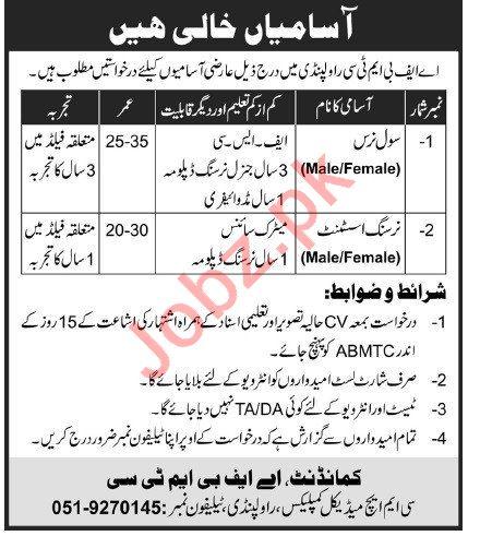 CMH Medical Complex AFBMTC Rawalpindi Jobs 2020 2020 Job ...