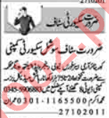 Security Incharge & Lady Security Guard Jobs 2020 in Lahore