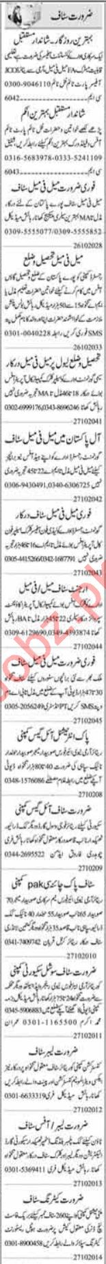 Supervisor & Telephone Operator Jobs 2020 in Islamabad