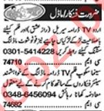 Model & Actor Jobs Open in Lahore 2020