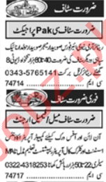 Telephone Operator & Business Manager Jobs 2020 in Lahore