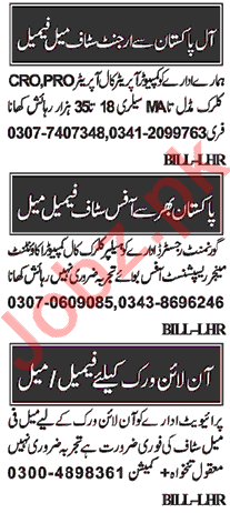 Assistant Manager & Computer Operator Jobs 2020