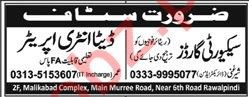 Security Guard & Data Entry Operator Jobs 2020 in Rawalpindi