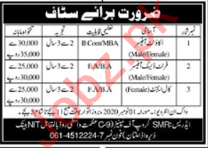 SMR Group of Companies Jobs 2020 for Front Desk Officer